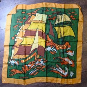 Accessories - Vintage Pirate Ship Scarf